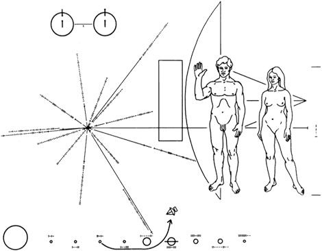 Image on the disk on pioneer 10